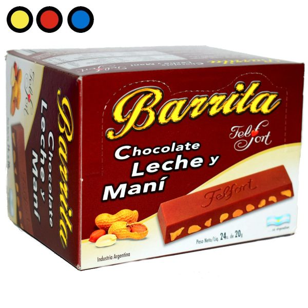 chocolate barrita felfort distribuidor mayorista