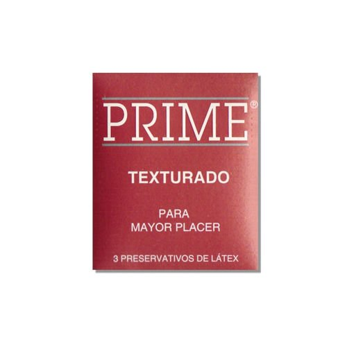 preservativo Prime texturado rojo promocion