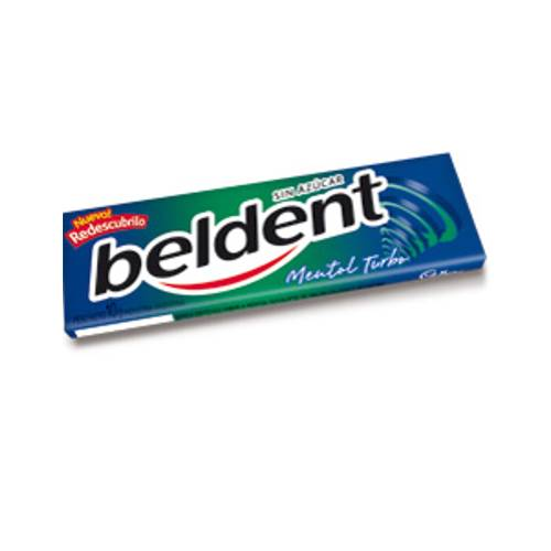 chicle Beldent mentol turbo