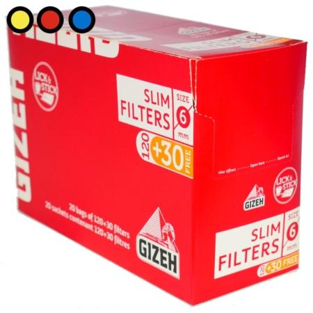 filtros gizeh slim precio mayorista