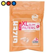 filtros gizeh slim xl pure tabaqueria online
