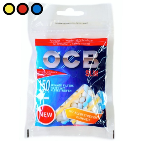 ocb filtros slim engomados por mayor