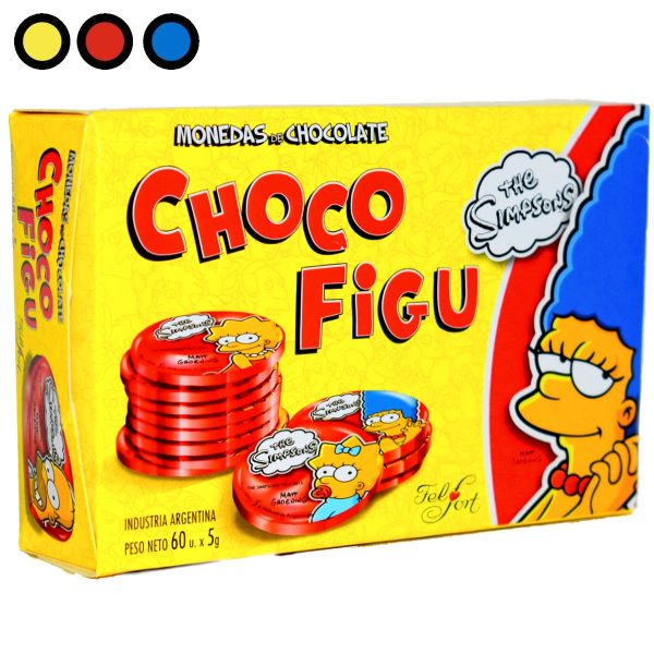 chocolate felfort moneditas simpsons