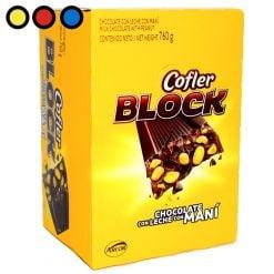 chocolate cofler block 38gr mayorista