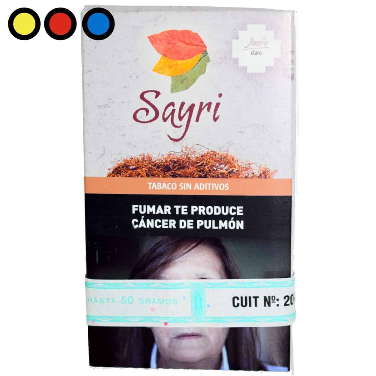 tabaco sayri claro precios mayorista