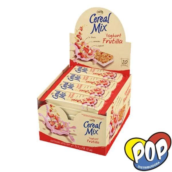 barra cereal mix yoghurt frutilla precios