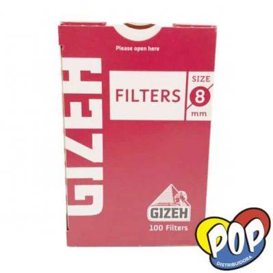 gizeh filtros regulares 8mm 100u