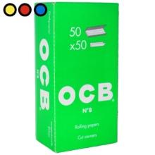 papel ocb verde 70mm puntas cortadas