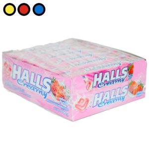 caramelos halls creamy frutilla