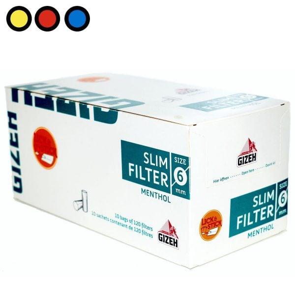 filtros gizeh slim menthol precio mayorista