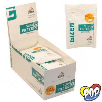filtros gizeh slim menthol precios online