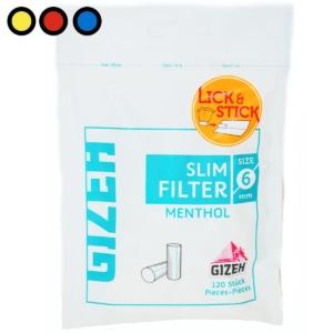filtros gizeh slim menthol venta online