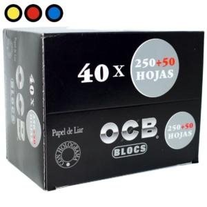 papel ocb bloc fumar negro