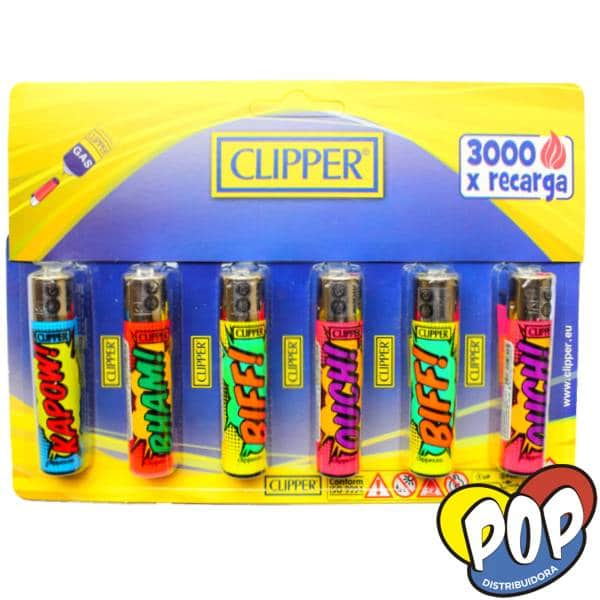 clipper encendedor maxi dibujos 6u por mayor