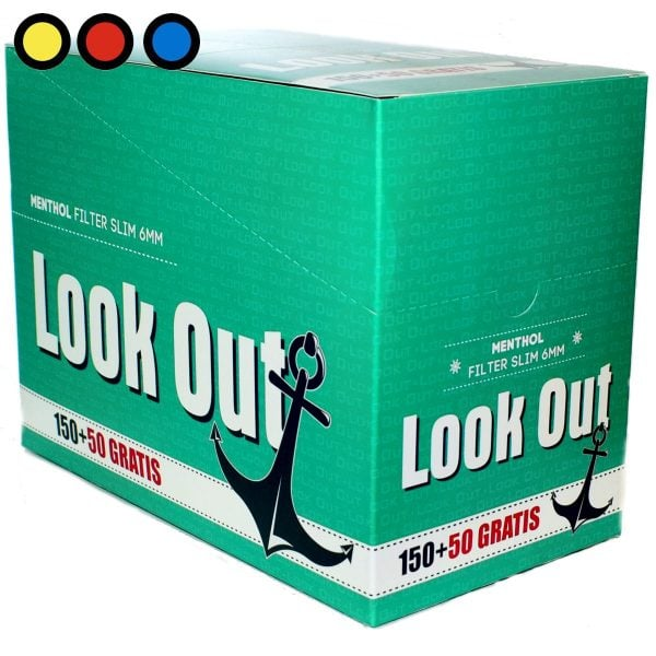 filtros look out slim menthol tabaqueria