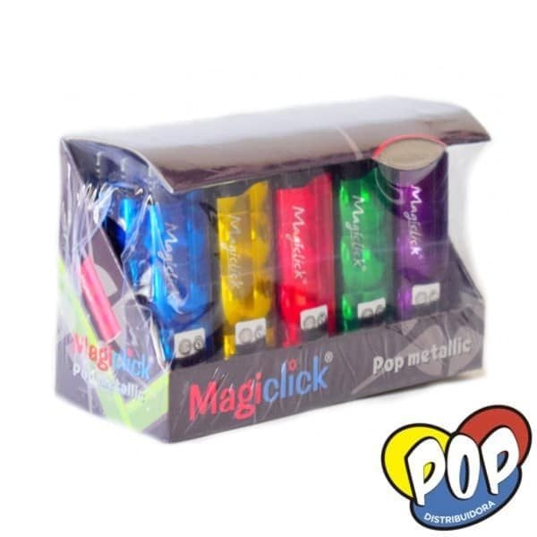magiclick encendedor pop metalizado