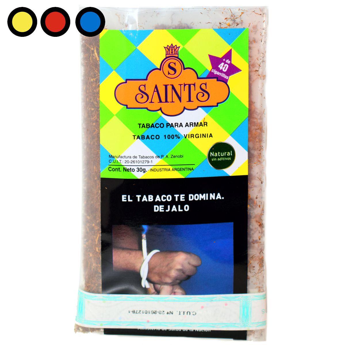 tabaco saints virginia 30gr precio