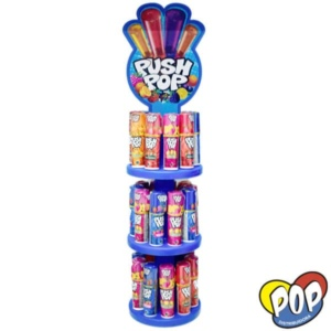push pop exhibidor golosinas kioscos