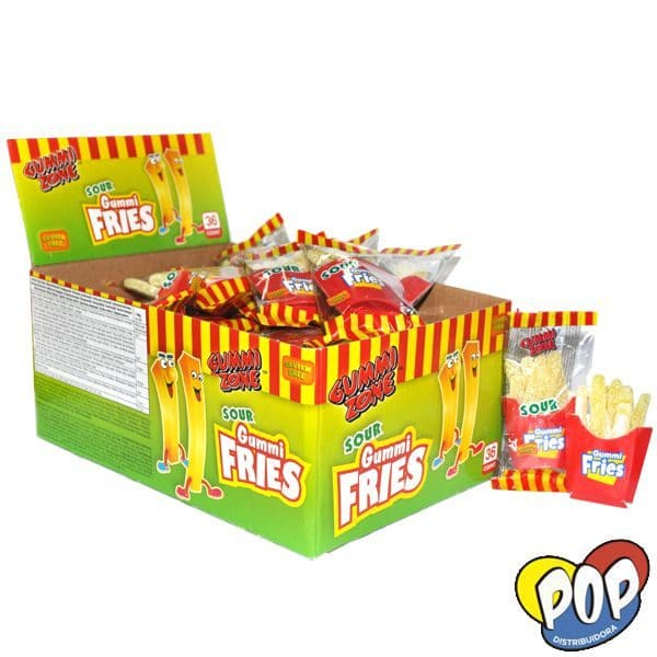 gomitas gummi sour fries golosinas