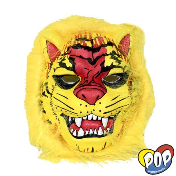 careta animalitos con pelo tigre amarillo