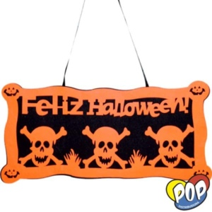cartel halloween merlyn 50x25 cotillon por mayor