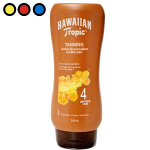 hawaiian tropic tanning spf04 locion 2540ml