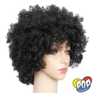 peluca afro negra cotillon por mayor