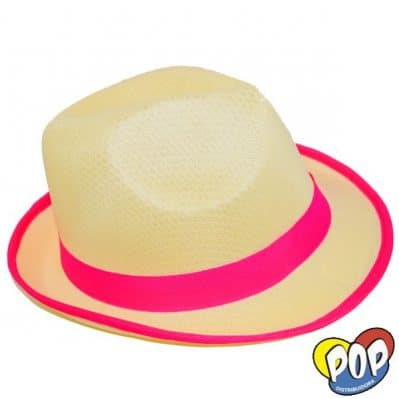 sombrero bahiano guardas fluo fucsia