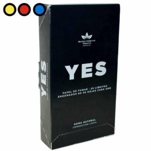 papel yes negro fumar cigarrillos