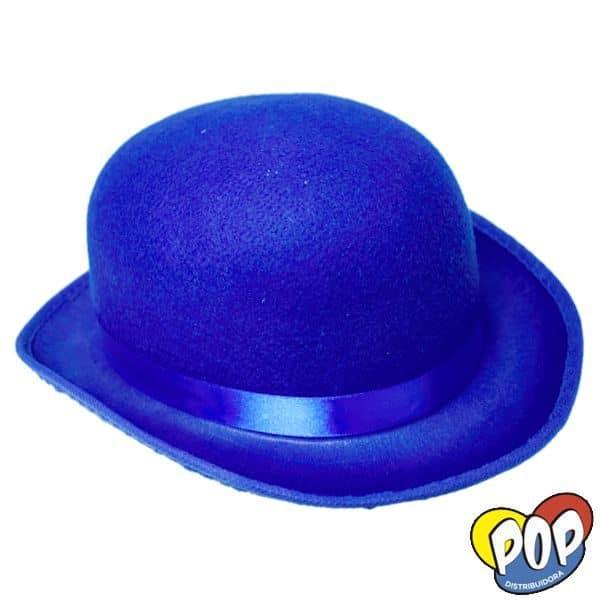 sombrero bombin azul precios