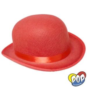 sombrero bombin colores rojo cotillon