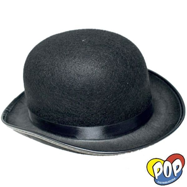 sombrero bombin negro cotillon
