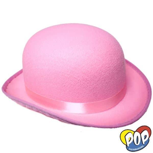 sombrero bombin colores rosa
