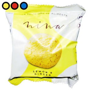 galletitas nina lemon ginger 30gr por mayor