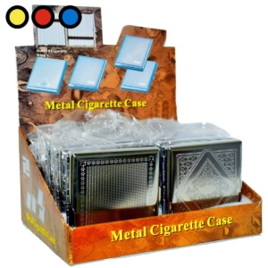 cigarrera de metal grabado mayorista para tabaquerias