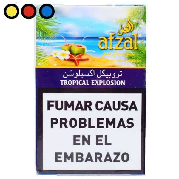 tabaco afzal tropical explosion narguile venta