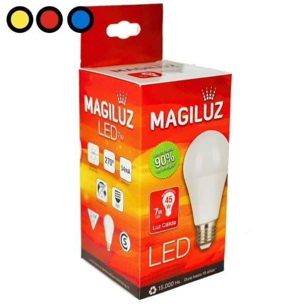 lampara led magiluz 7w calida mayorista