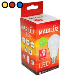 lampara led magiluz 9w calida mayorista