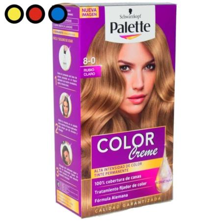 tintura palette rubio claro por mayor
