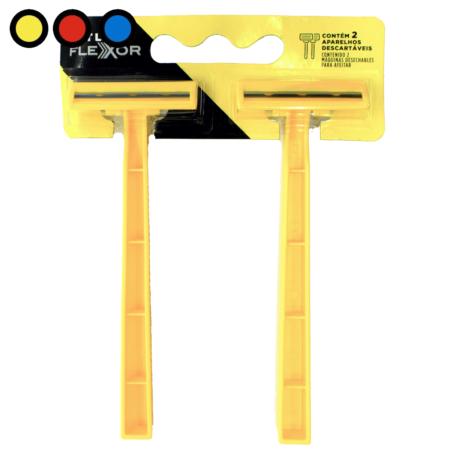 afeitadora flexor 2 filos amarilla