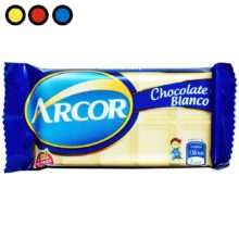 chocolate arcor por mayor blanco