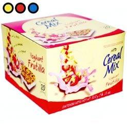 cereal mix yoghurt frutilla