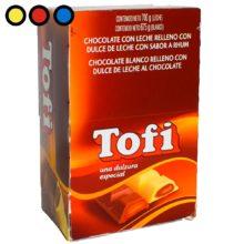 chocolate tofi leche dulce de leche