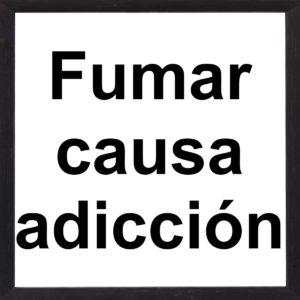 banner fumar causa adiccion