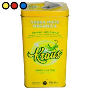 yerba mate organica lata kraus mayorista