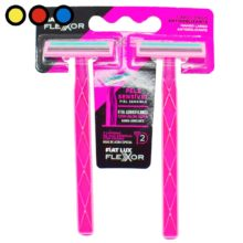 afeitadora flexor 2 filos rosa venta online