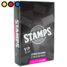 papel stamps black tabaqueria