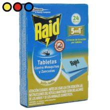 raid tabletas mosquitos precio